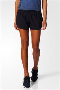 מכנסי ריצה קצרים לנשים - שחור