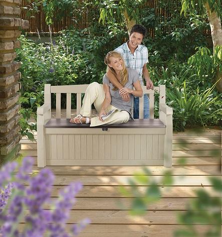 ספסל אחסון דגם עדן בעיצוב אטרקטיבי ונוח עם אפשרות נעילה מבית KETER - תמונה 3