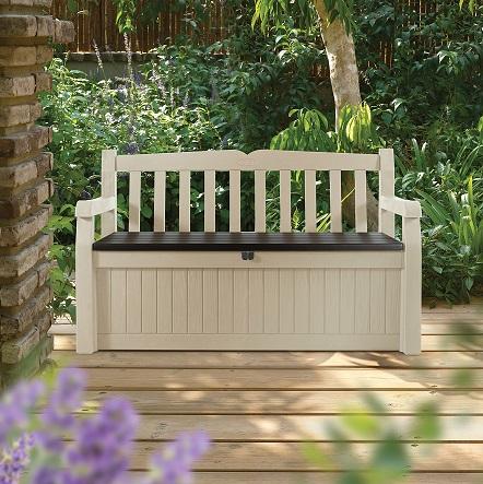 ספסל אחסון דגם עדן בעיצוב אטרקטיבי ונוח עם אפשרות נעילה מבית KETER - תמונה 2