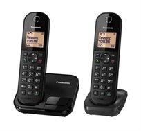 טלפון אלחוטי ושלוחה נוספת PANASONIC דגם KX-TGC412MBB/BW
