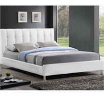 מיטה וחצי 120X190 בעיצוב איטלקי GAROX מרופדת עור איכותי ונעים דגם BYANCA  - משלוח חינם