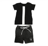 ORO חליפת טריקו (3 חודשים - 4 שנים) - פס לבן