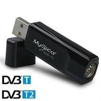 מקלט עידן פלוס DVBT2 T230 באיכות HD למחשב נייד ונייח – תמיכה במדריך תכניות מלא בעברית, כולל שלט רחוק