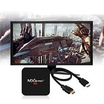 מתאם לטלויזיה חכמה - ANDROID 6.0 TV BOX MXQ PRO 4K