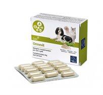 מולטי ויטמין Omevit לכלב ולחתול מכיל ויטמנים שונים, ברזל, אבץ ספירולינה ועוד