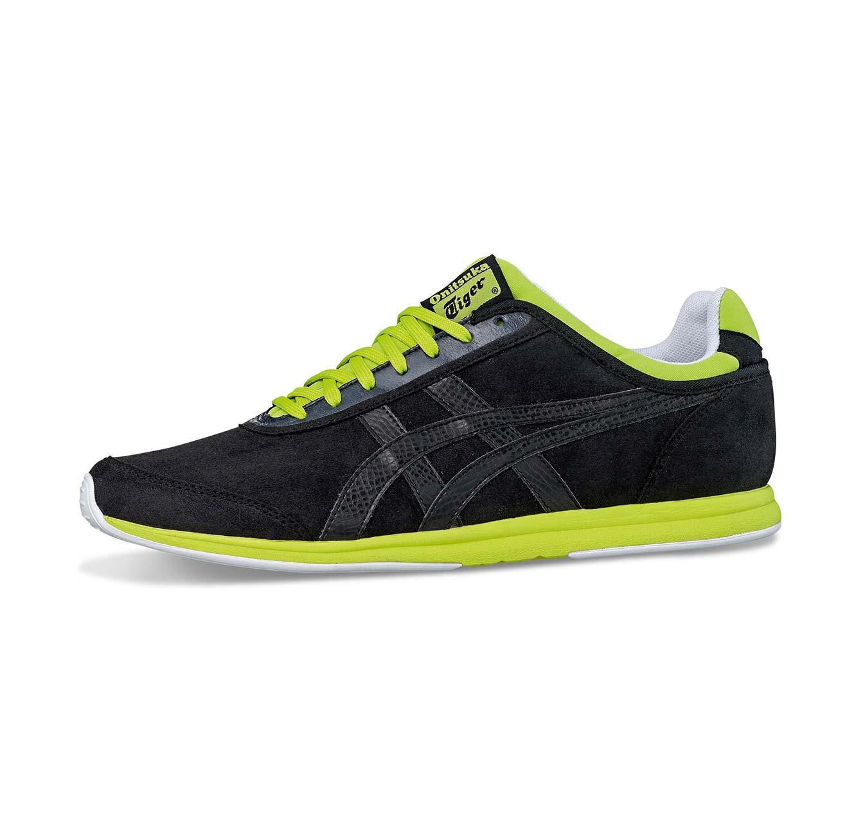 נעלי אופנה Asics לגברים דגם D3H3Y-9090 - שחור ירוק