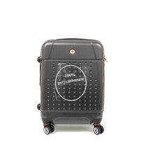 "Swiss Travel Club - מזוודת טרולי קשיחה 55 ס""מ בצבע שחור"