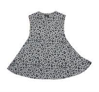 שמלה מסתובבת לילדות Minene בצבע אפור כהה