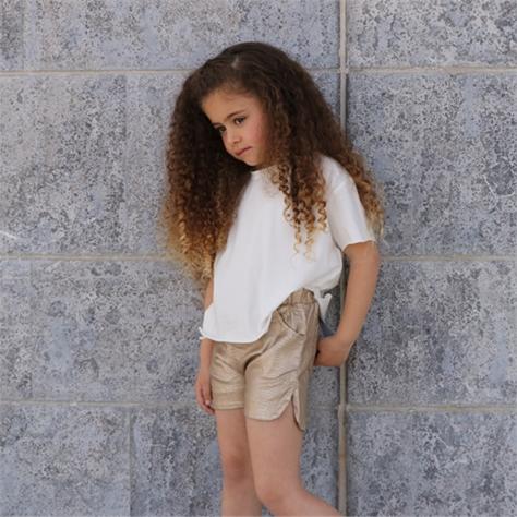 חולצת Oro לילדות (18 חודשים-6 שנים) לבן בטן