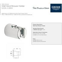 מאחז קיר למזלף גרואה Grohe סדרת רילקסה דגם 28622000