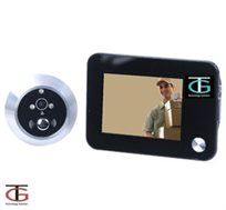 עינית דיגיטלית לדלת עם צג אחורי LCD 3.5