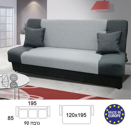 ספה אירופאית נפתחת למיטה רחבה עם ארגז מצעים דגם גאס HOME DECOR  - תמונה 2