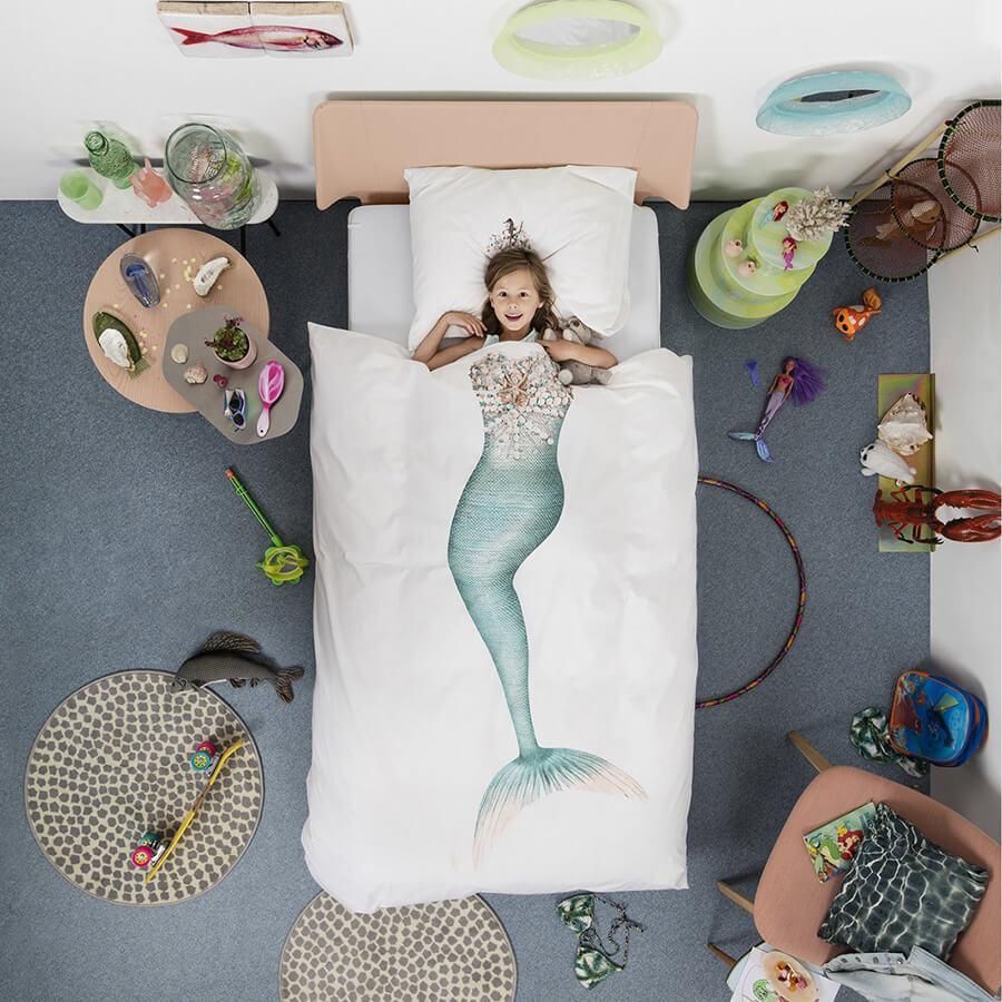 Snurk סט מצעים סינגל לילדים Mermaid