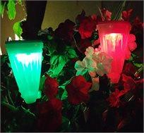 פנס סולארי בעל 2 מצבי תאורה אור לבן ואור צבעוני מתחלף, מתאים לאדניות או לחצר - קונים 5 והשישי חינם!