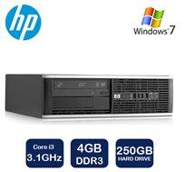 מחשב נייח HP דגם 6200 מארז SFF, מעבד Core i3, זיכרון 4GB, דיסק קשיח 250GB, כולל מערכת הפעלה Win 7
