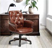 כסא מנהלים בריפוד דמוי עור HOMAX דגם וושינגטון