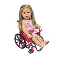 כסא גלגלים עם אביזרים לבובת ניו יורק
