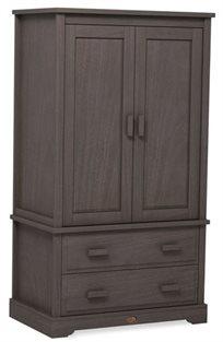 ארון 2 דלתות לחדר ילדים מעוצב Eton מעץ מלא - מוקה