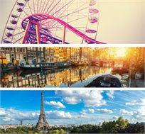 חגיגה משפחתית בין אמסטרדם ופריז -  6 ימי טיול מאורגן כולל היורודיסני ואפטלינג החל מכ-$879* לאדם!