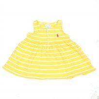 Ralph Lauren / ראלף לורן (18-9 חודשים) שמלת פסים - צהוב לבן