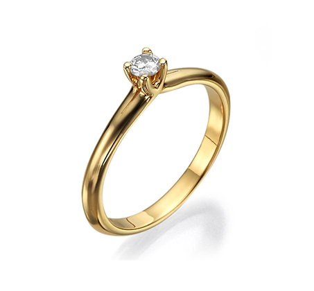 טבעת זהב 14K במשקל 2.4 גרם משובץ יהלום