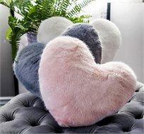 כרית בצורת לב עשויה מיקרופייבר ורדינון