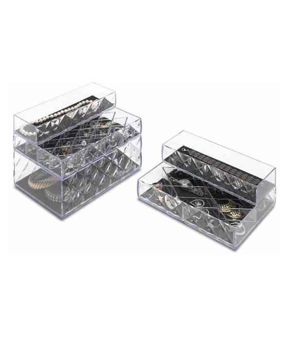 קופסת תכשיטים מהודרת 12 תאים - תמונה 2