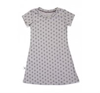 שמלת שרוול קצר BABY ROCK עם הדפס גולגולות בצבע אפור
