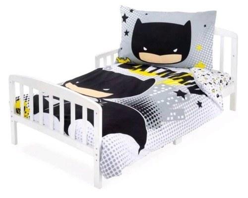 סט מצעים 3 חלקים למיטת תינוק/מעבר (דגם חדש) - באטמן