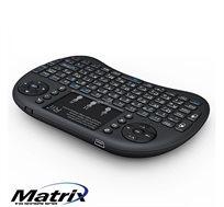 מקלדת מיני אלחוטית דגם +i8 מקורי של חברת RiiTEK עם משטח מגע ותאורת מקשים