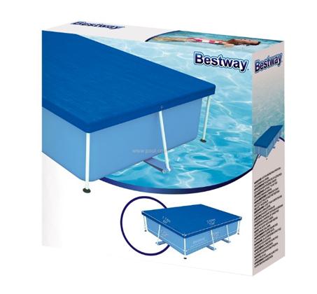 כיסוי עליון כחול לבריכה ביתית מלבנית 170x259 ס