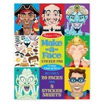 חוברת מדבקות פרצופים מצחיקים - Melissa & Doug