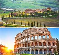 טיול מאורגן לרומא וטוסקנה ל-5 ימים כולל ארוחת בוקר החל מכ-$599*