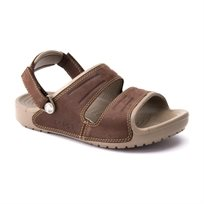 Crocs Yukon Two-Strap Sandal - כפכף גברים חום עם רצועות מעור
