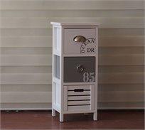 שידה דקורטיבית לאחסון בעיצוב מודרני בעלת שלוש מגירות לסלון או לחדר השינה U DESIGN