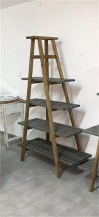 סולם פטרול 4 מדפים עץ משולב 092100