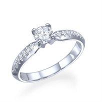 """טבעת אירוסין """"אלכס"""" 0.55 קראט יהלומים בעיצוב קלאסי"""