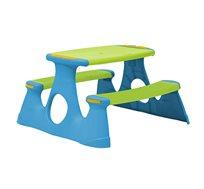 שולחן פיקניק מפלסטיק קשיח לילדים למרפסת ולחצר Starplast