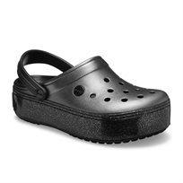 Crocs Crocband Platform Metallic Clog - נעלי קרוקבנד פלטפורמה קלוג בצבע שחור מטאלי