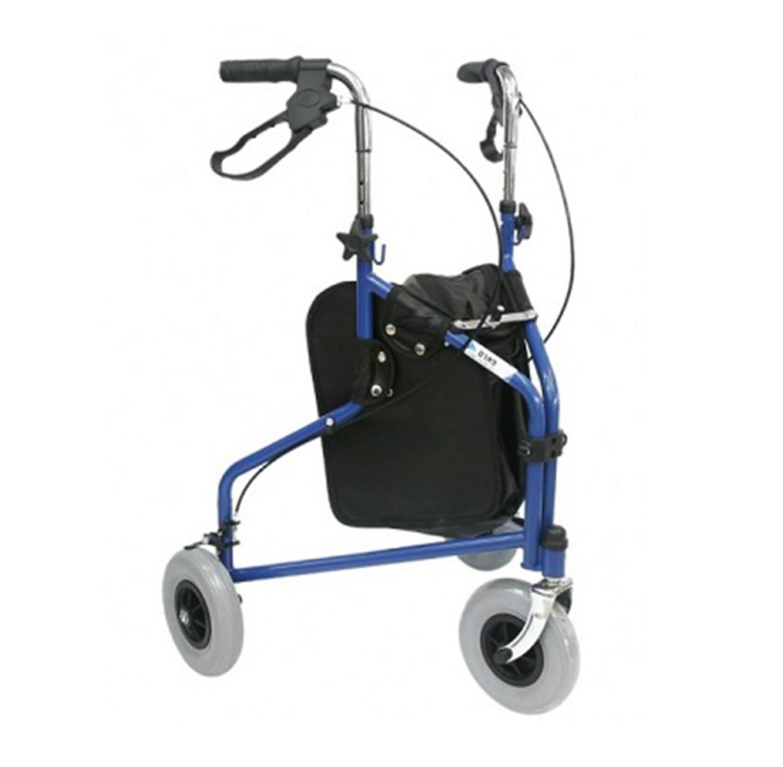 רולטור פלדה עם 3 גלגלים גדולים ובלמי עצירה בצבעים לבחירה