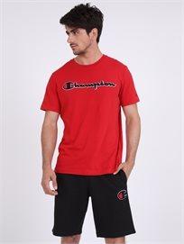Champion גברים - חולצה בייסיק אדומה