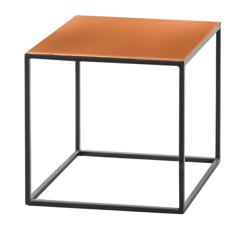 שולחן קפה מדגם קיטי ביתילי  עם פלטת מתכת בפיצוי נחושת