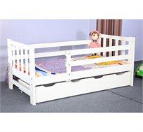 מיטת ילדים לבנה עם מגירות איחסון דגם BOTEGA