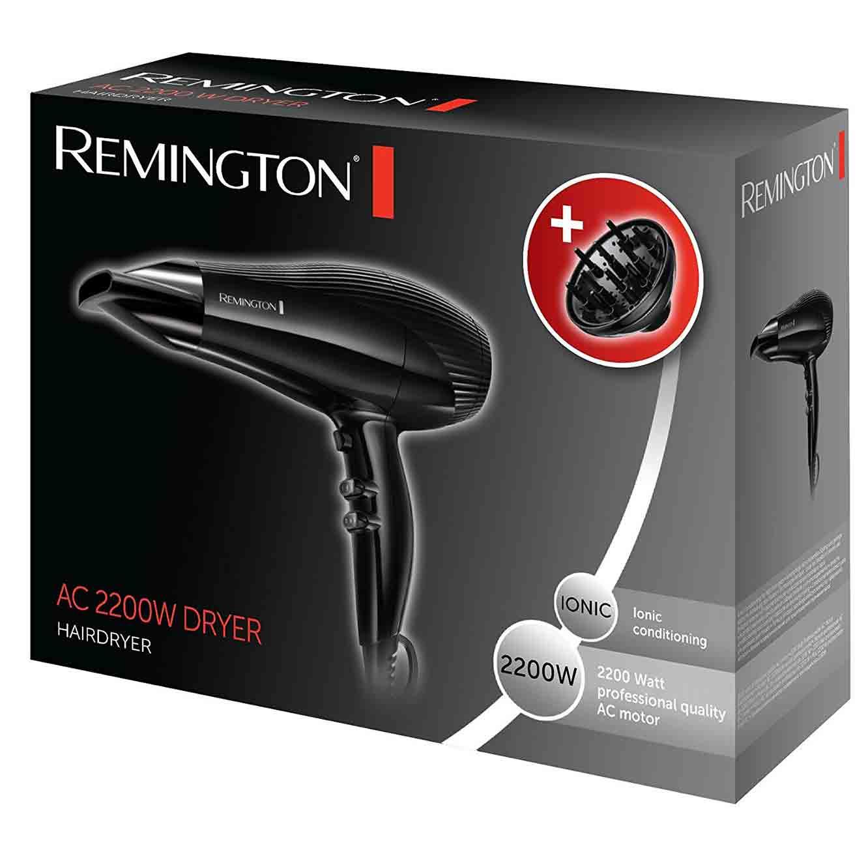 מייבש שיער דגם AC3300 עם הספק של 2200W וואט 5 דרגות חימום עם 5 שנות אחריות Remington  - משלוח חינם - תמונה 2