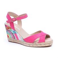 Desigual Shoes Bahia - סנדל פלטפורמה לנשים עם הדפס פרחוני בצבע ורוד