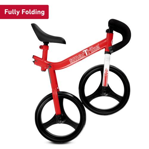 אופני איזון מתקפלים עם כיסא וכידון מתכווננים - אדום - תמונה 3