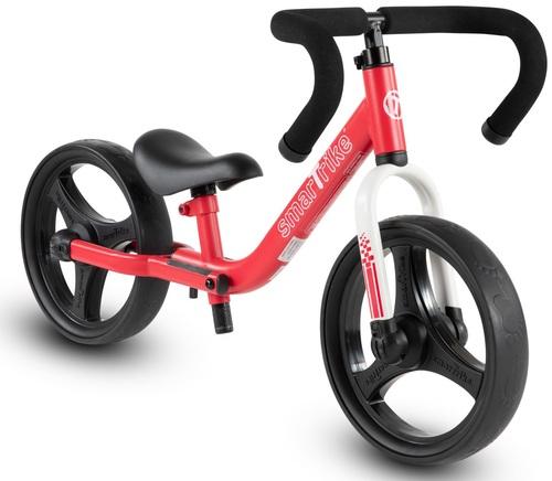 אופני איזון מתקפלים עם כיסא וכידון מתכווננים - אדום