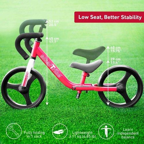 אופני איזון מתקפלים עם כיסא וכידון מתכווננים - אדום - תמונה 4