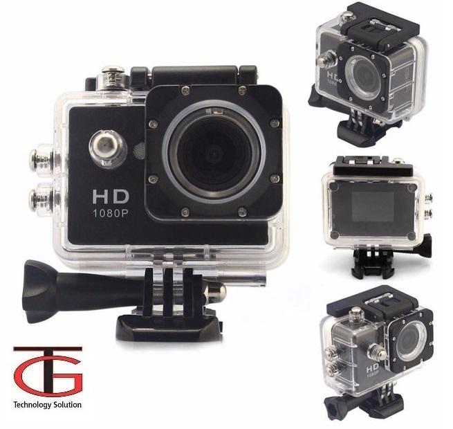 מצלמת אקסטרים FULL HD משולבת לפעילויות ספורט ופנאי + צג אחורי צבעוני ויציאת HDMI - תמונה 2