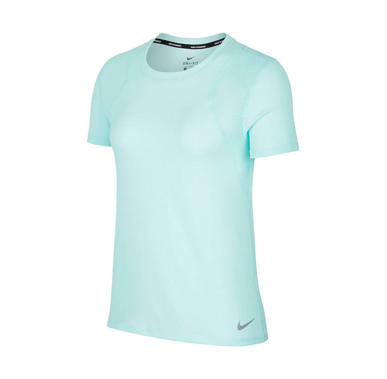 חולצת טי שירט ריצה לנשים - טורקיז